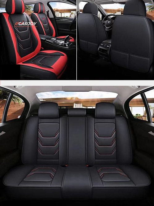 PU Leather Universal 5 seats car seat cover D-1 Red