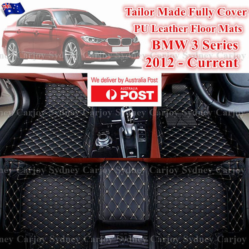 3D Cut BMW 3 Series Customized Car Trunk PU Leather Floor Mats