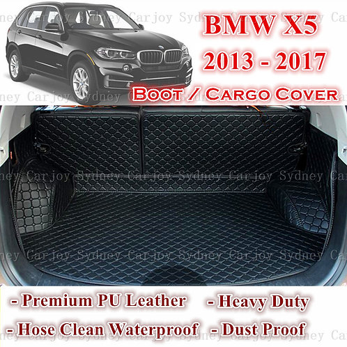 Tailored PU Leather Boot Liner Cargo Mat Cover for BMW X5 2013 - Current
