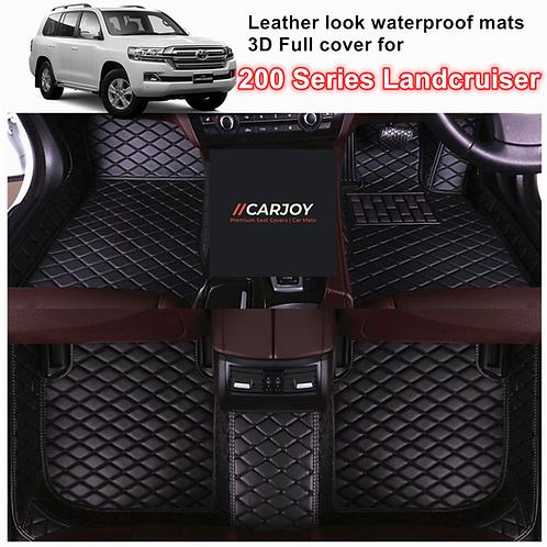 3D Customized Waterproof Car Floor Mats for Toyota Landcruiser 200 series 5 seat