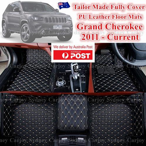 3D Cut Jeep Grande Cherokee Customized Car Trunk PU Leather Floor Mats