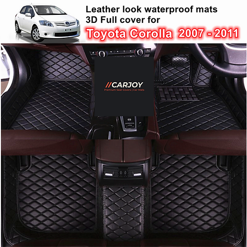 3D Moulded PU leather Waterproof Car Floor Mats for Toyota Corolla 2007 - 2011