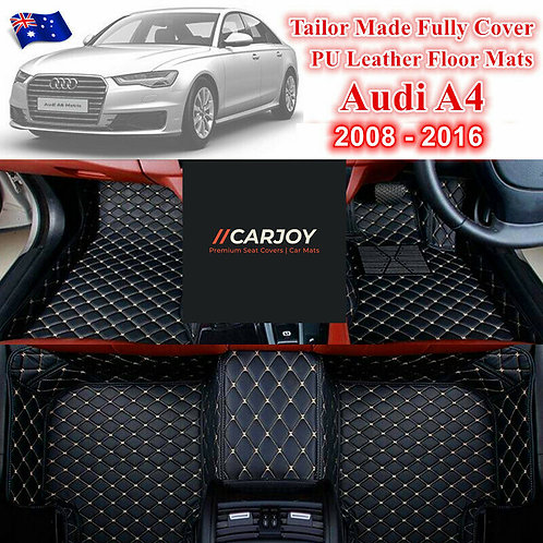 3D Shape Customized Waterproof PU leather Car Floor Mats for Audi A4 2008 - 2016