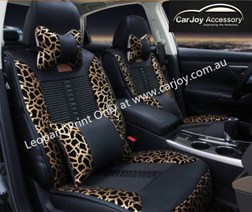 car seat back support leopard print cushion sydney car accessories interior exterior. Black Bedroom Furniture Sets. Home Design Ideas