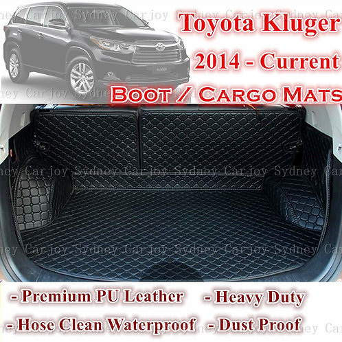 Tailored PU Leather Boot Liner Cargo Mat Cover for Toyota Kluger 7 14 - Current