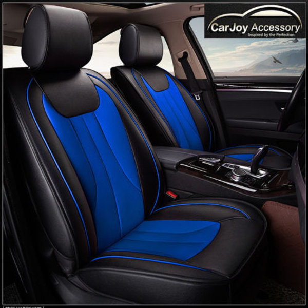 Awe Inspiring Leather Car Seat Cover B Blue Black Pdpeps Interior Chair Design Pdpepsorg