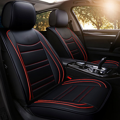360' Faux Leather Universal car seat cover XD461 Red stripe