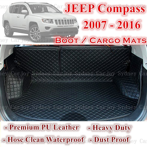 Tailored PU Leather Boot Liner Cargo Mat Cover for Jeep Compass 07 - 16