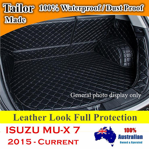 Tailored PU Leather Boot Liner Cargo Mat Cover for Isuzu MU-X 2015 - Current