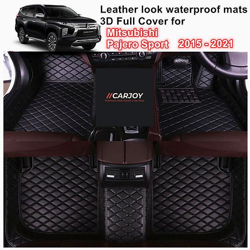 3D Moulded Waterproof Car Floor Mats for Mitsubishi Pajero Sport 2015 - 2021