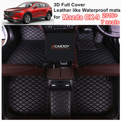 3D Waterproof Full cover Car Floor Mats for Mazda CX-9 2016 - Current 3 rows