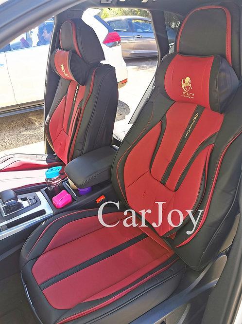 2020 Limited Design Handmade Premium Car seat cover Gold Print Maroon