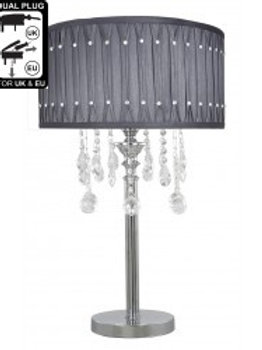 Versailles Grey Crystal Table Lamp