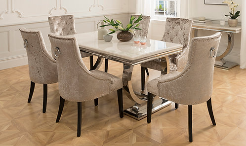Arianna 1800 Dining table + 6 Belvedere Dining Chairs