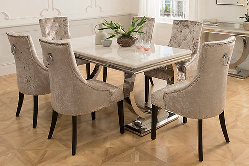 Arianna 2000 Dining Table + 6 Belvedere Dining Chairs