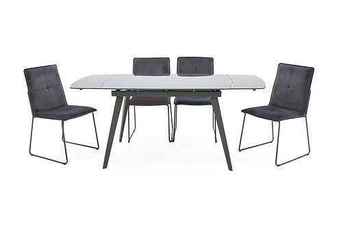 Sabina Extending Table Table plus 4 Lazzaro Chairs