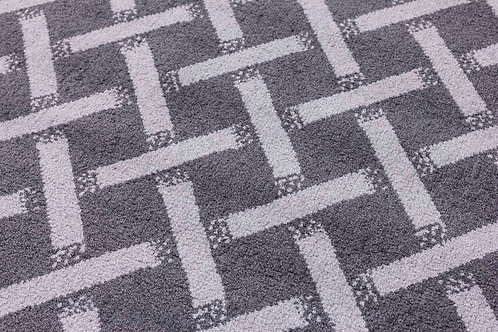 Ambience Rugs - Criss-Cross Dark Grey