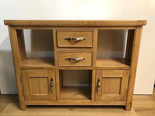 Cadiz Oak 2 Door 2 Drawer Low Display Unit