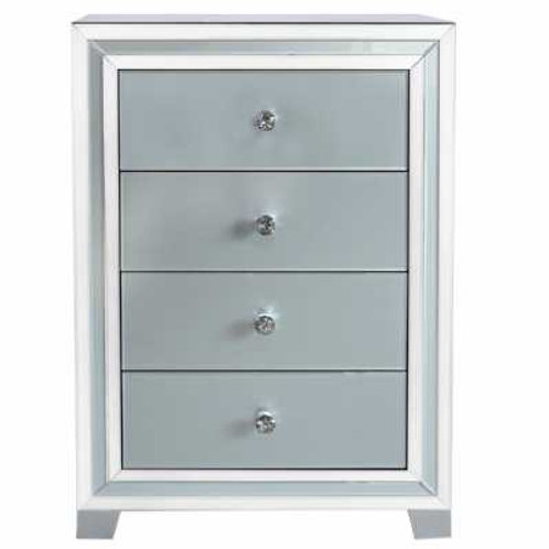 Manhattan Grey 4 Drawer Tall Chest
