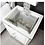 Thumbnail: Manhattan White 3 Drawer Locker with Glass Top