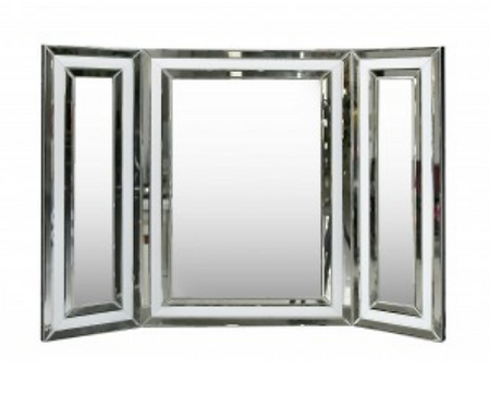 White Manhattan Vanity Mirror White Clear