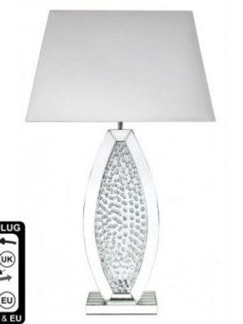 Astoria White Oval Floating Crystal Lamp (Medium)