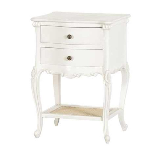 Chateau 2 Drawer Bedside with Rattan