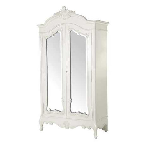 Loire Chateau 2 Door Mirrored Armoire