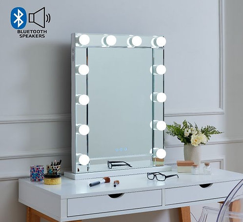 Clear Hollywood Mirror with Bluetooth