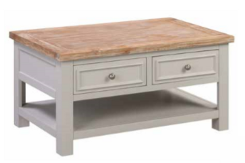 Ancona Coffee Table With 2 Drawers