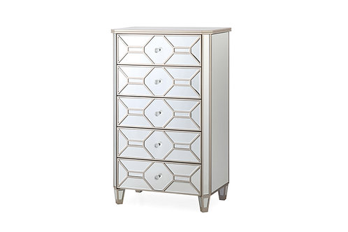 Rosa Tall Chest - 5 Drawer