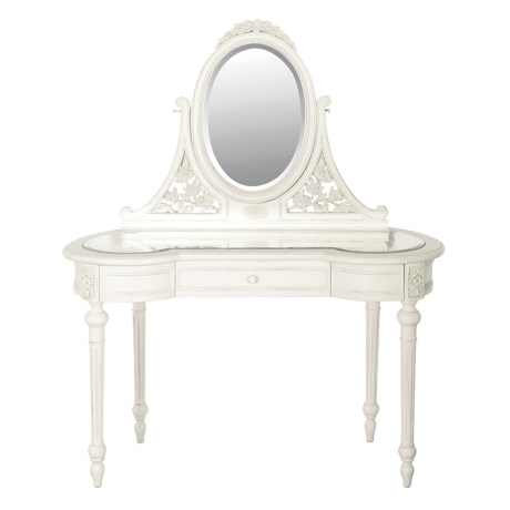 Chateau Glazed Dressing Table with Mirror