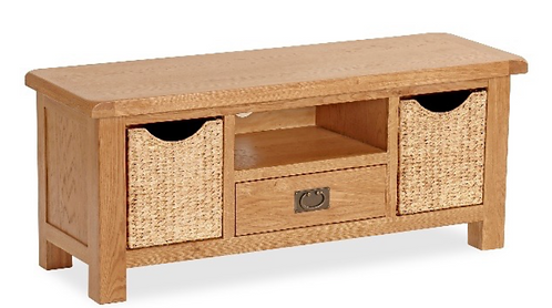 Salisbury Large Coffee Table with Baskets G2927