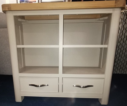 Oxford Painted 2 Drawer Bookcase