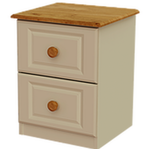 Annagh Ivory 2 Drawer Deep Bedside