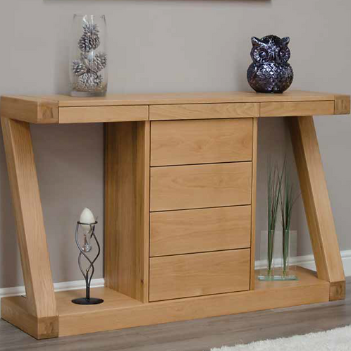 Wide Console with Drawers