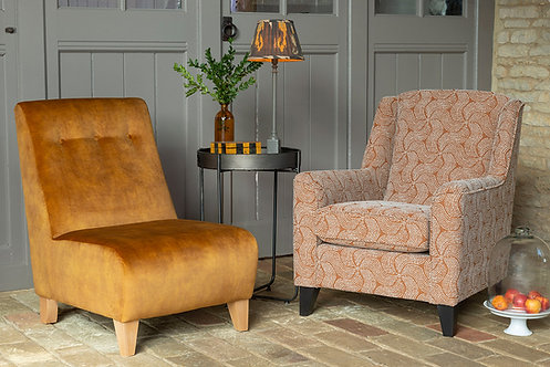 Poppy Armless Chair by Alstons