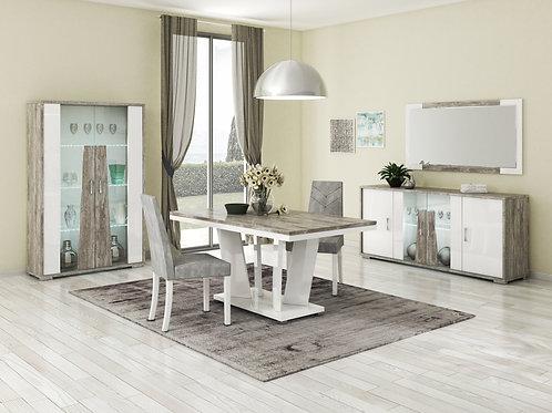 Kronos Table + 6 Savannah Chairs