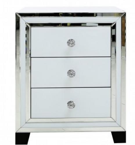White Manhattan 3 Drawer Locker