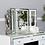 Thumbnail: White Manhattan Vanity Mirror White Clear