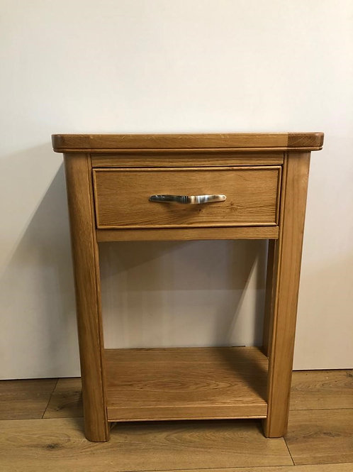 Cadiz Oak Small 1 Drawer Console Table