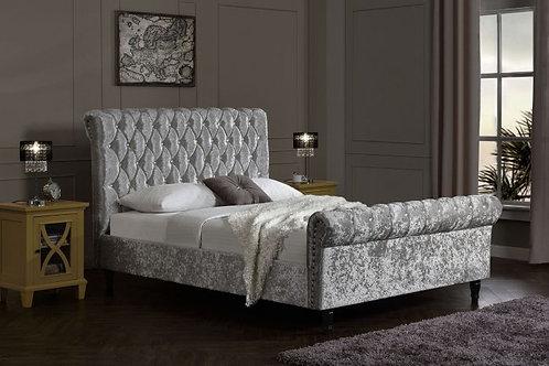 Chesterfield Velvet Bed