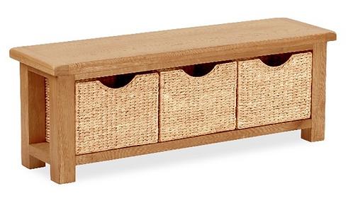 Salisbury Bench with Baskets G3512