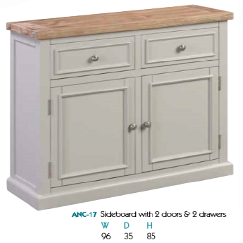 Ancona 2 Drawer 2 Door Sideboard