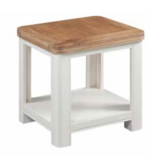 Oxford Painted Lamp Table With Shelf