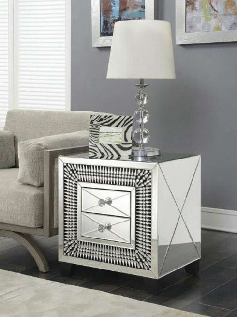 2 Drawer Lamp Table
