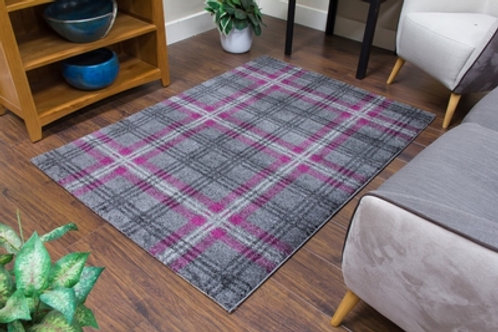 Glendale Rugs - Grey/Purple