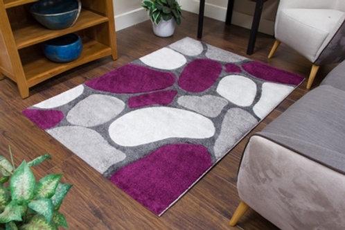 Tempo Pebbles Grey/Purple Rug