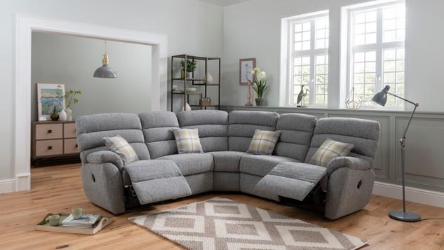 Corner Fabric Reclining Suites