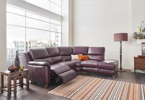 Corner Leather Reclining Suites